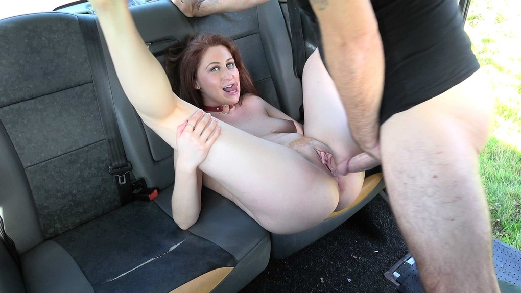 FakeTaxi : Curvy big tits with ginger bush – Princess Paris